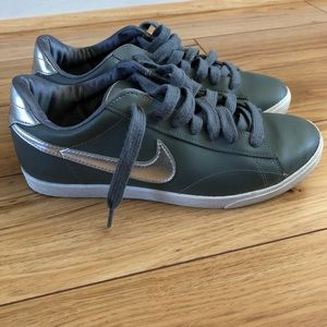 Nike gray and silver sneakers